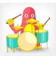 Funny Monster Drummer vector image vector image