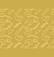 Bakery golden pattern vector image
