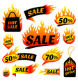 fire sale vector image