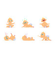 funny characters set of babies in different poses vector image