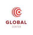global center creative company logo template icon vector image