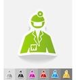 realistic design element stomatologist vector image