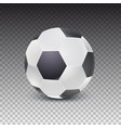 realistic soccer ball with shadow isolated on vector image