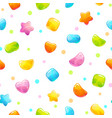 seamless pattern with funny cartoon jelly candies vector image