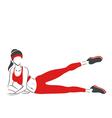 Woman practises pilates- symbolical emblem vector image