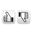 Thumb up and down buttons set - social media vector image vector image