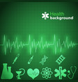 medicine green background vector image