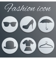 Fashion realistic button set vector image