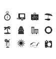 Silhouette Travel and Trip Icons vector image vector image