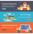 Electricity Banner Set vector image