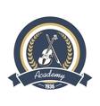 Music academy heraldic insignia with violin vector image vector image