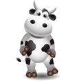 cute cow vector image vector image