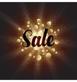 Golden dust explosion with Sale sign vector image