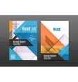 Square and triangle design annual report template vector image