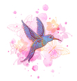 Abstract background with tropical bird vector image