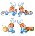 cheerful redhead cook vector image