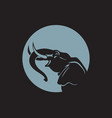 elephant sign logo emblem -03 vector image