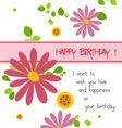 Happy birthday with flowers vector image