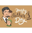 Happy Fathers Day Lettering text for greeting vector image
