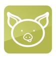 Pig icon Farm animal vector image