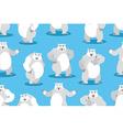 Polar Bear seamless pattern Set a wild animal Wild vector image