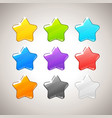 Set of Colorful Stars GUI elements for mob vector image