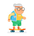 sports healthy granny active lifestyle age skating vector image