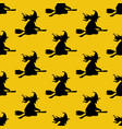 witch on the broom pattern vector image