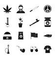 Rastafarian icons set simple style vector image