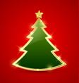 Simple Christmas tree vector image