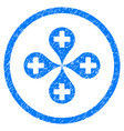hospital map markers rounded grainy icon vector image