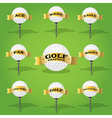 Golf ball and banner design elements vector image vector image