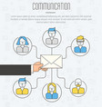 communication process infographic of email vector image