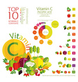 vitamin C vector image