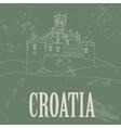 Croatia landmarks Retro styled image vector image