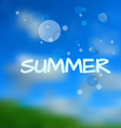 Summer Blurry Background vector image vector image