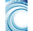 Blue Abstract Christmas background with white vector image