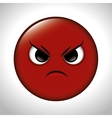 Cartoon anger red emoticon graphic vector image