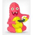Funny Monster Gamer vector image
