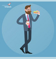 man eating sandwich vector image