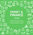money finance white round design template line vector image