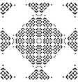 seamless pattern with black and white mosaic vector image
