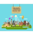 summer vacation logo design template vector image