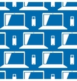 Usb stick and laptop pattern vector image