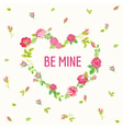 Valentines Day Card - Floral Shabby Chic Heart vector image