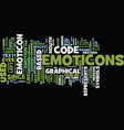 Emoticon text background word cloud concept vector image