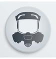 head gas mask signs vector image