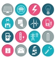Electricity power icons set vector image