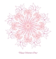 Background with ornamental round with pink irise vector image vector image