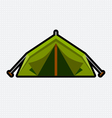 Tent graphic vector image vector image